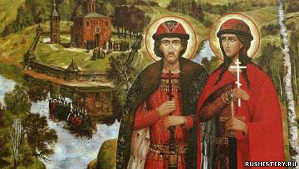 Святые Русь Борис и Глеб